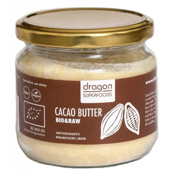Unt de cacao raw criollo bio (300 g), Dragon Superfoods