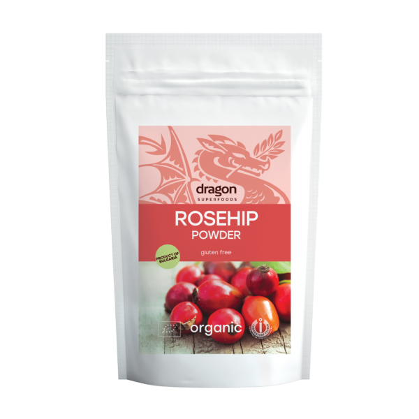 Pulbere de macese raw bio (250 grame), Dragon Superfoods
