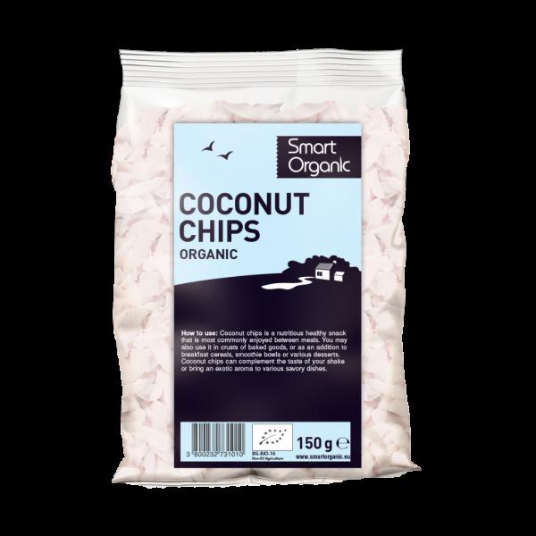 Fulgi raw de cocos bio (150 grame), Smart Organic
