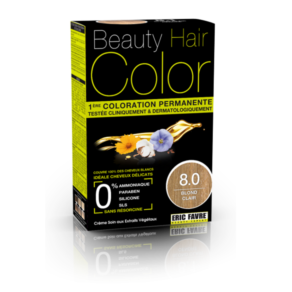 Beauty Hair - Vopsea de par 8 Blond deschis, Eric Favre