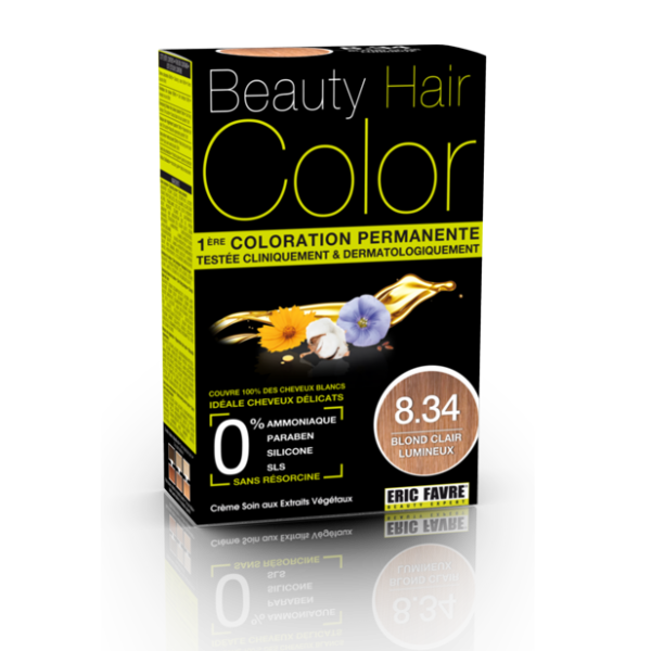 Beauty Hair - Vopsea de par 8.34 Blond deschis luminos, Eric Favre