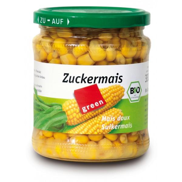 Boabe de porumb dulce la borcan bio (330 grame)