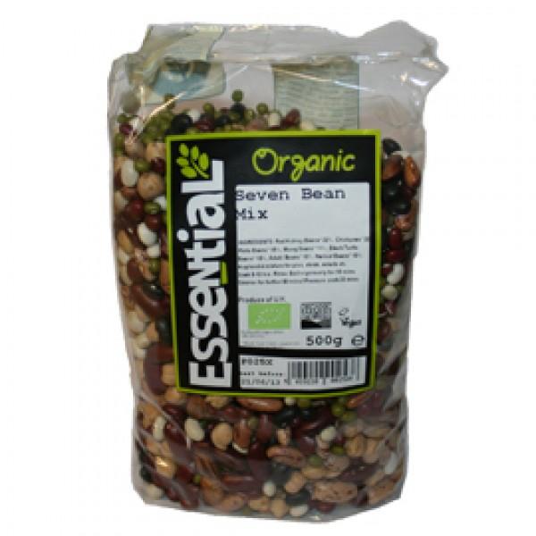 Mix din 7 boabe de fasole si naut bio (500g), Essential