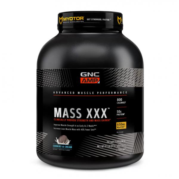 AMP Mass XXX Proteina din zer cu aroma de biscuiti si frisca (2769 grame), GNC