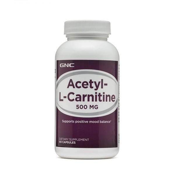 Acetil L-Carnitina 500 mg (60 capsule), GNC