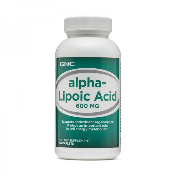 Acid Alfa Lipoic 600 mg (60 capsule), GNC