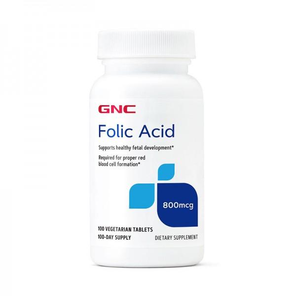 Acid Folic 800 MCG (100 tablete), GNC