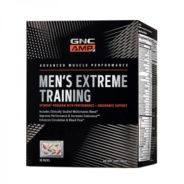 AMP Men's Extreme Training Vitapak - Program pentru performanta si anduranta (30 pachete), GNC