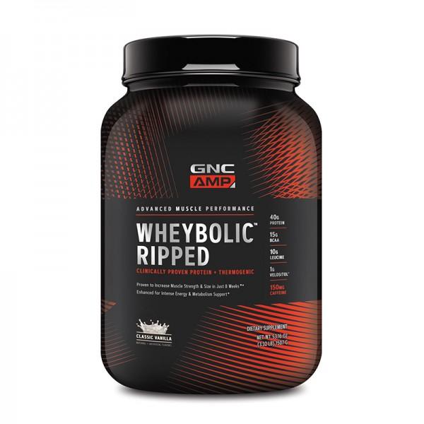 AMP Wheybolic Ripped Proteina cu aroma de vanilie (1507 grame), GNC