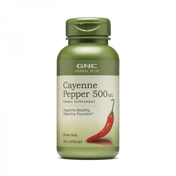 Ardei cayenne 500 mg (100 capsule), GNC Herbal Plus