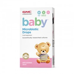 Baby Microbiotic picaturi pentru bebelusi (30 ml), GNC Milestones