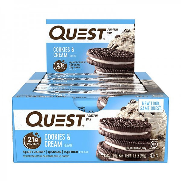 Quest Baton proteic cu aroma de biscuiti si frisca (60 grame), GNC