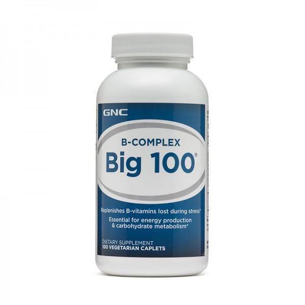 Big 100 Complex de vitamine B (100 tablete), GNC