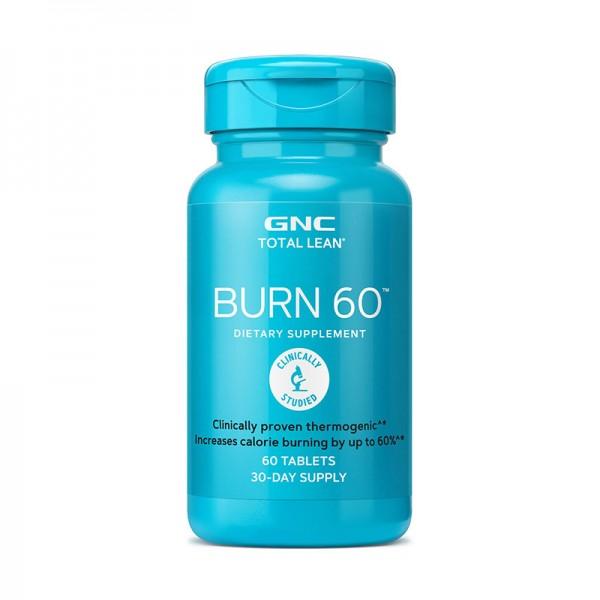 Burn 60 Formula termogenica pentru stimularea metabolismului (60 tablete), GNC Total Lean