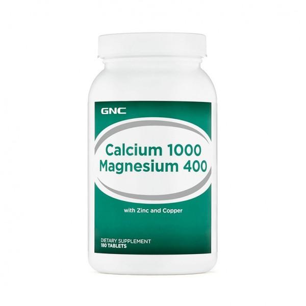 Calciu 1000 Magneziu 400 (180 tablete), GNC