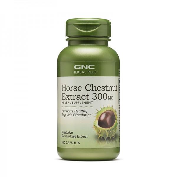 Extract standardizat de castan salbatic 300 mg (100 capsule), GNC Herbal Plus
