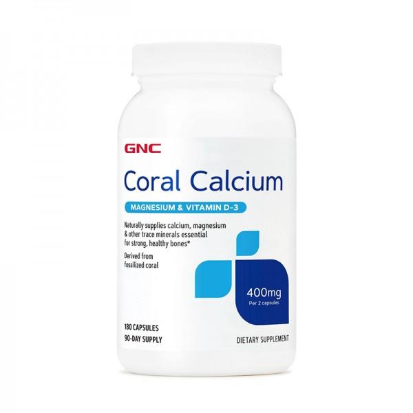 Calciu Coral (180 capsule), GNC