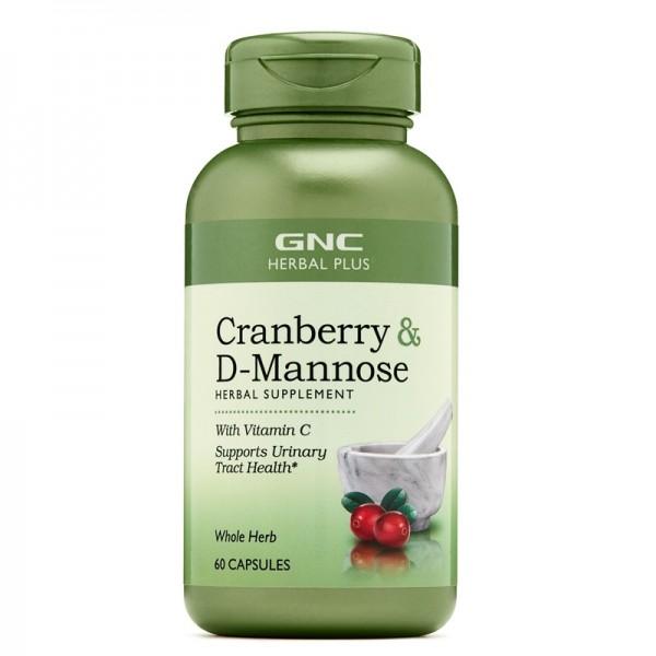 Cranberry plus D-Mannose (60 capsule), GNC Herbal Plus