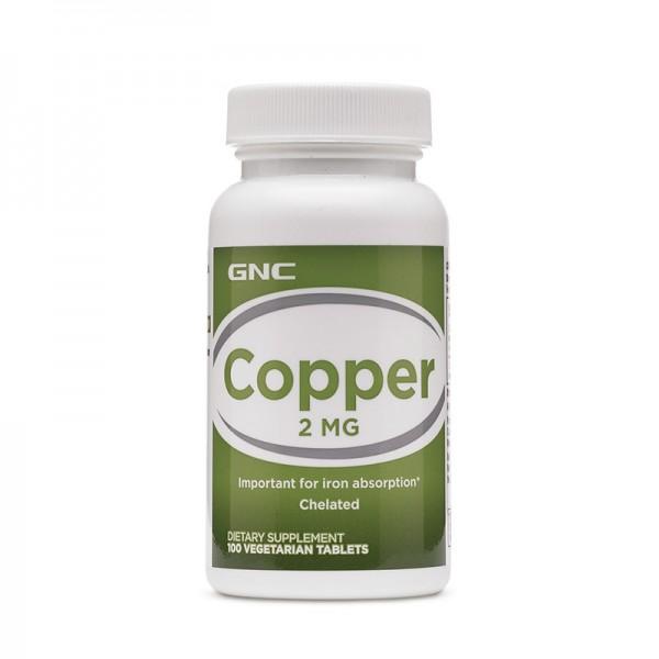 Cupru Chelat 2 mg (100 capsule), GNC