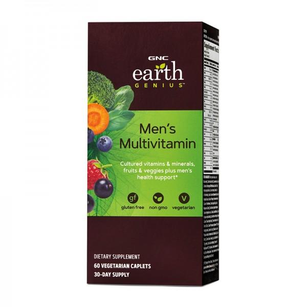 Complex de multivitamine pentru barbati (60 tablete), GNC Earth Genius