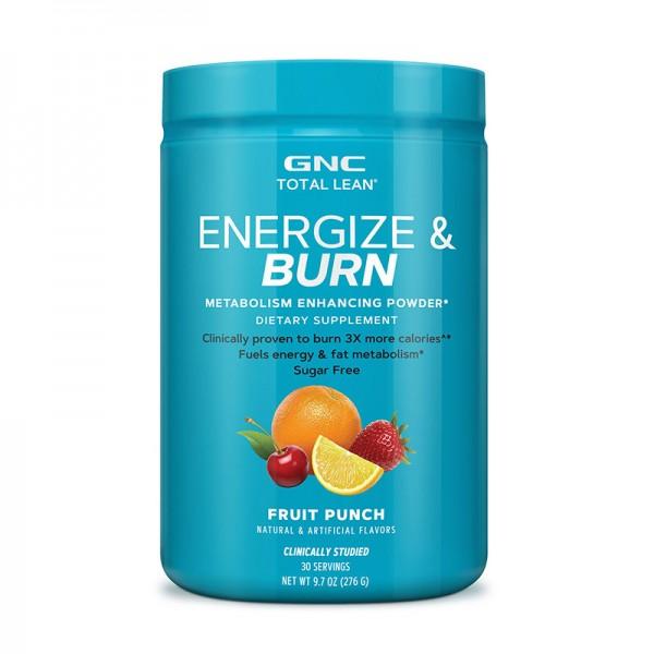 Energize & Burn cu aroma de punch de fructe (276 grame), GNC Total Lean