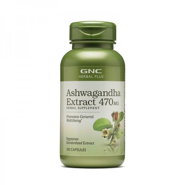 Extract de Ashwagandha 470 mg (100 capsule), GNC Herbal Plus