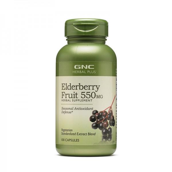 Extract standardizat din fructe de soc 550 mg (100 capsule), GNC Herbal Plus