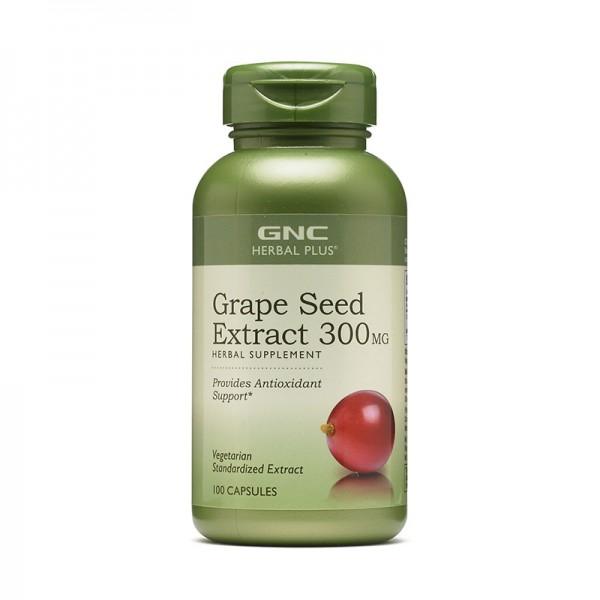 Extract standardizat din samburi de struguri 300 mg (100 capsule), GNC Herbal Plus