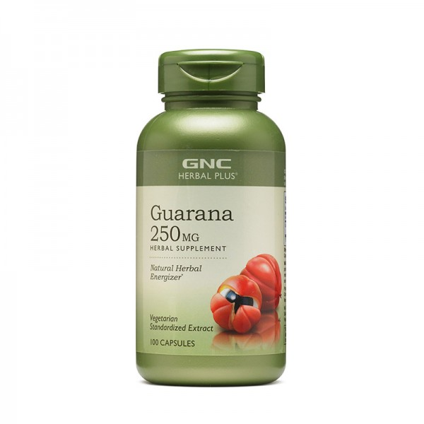 Extract standardizat din seminte de guarana 250 mg (100 capsule), GNC Herbal Plus