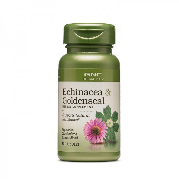 Extract standardizat de echinacea si gentiana (50 capsule), GNC Herbal Plus