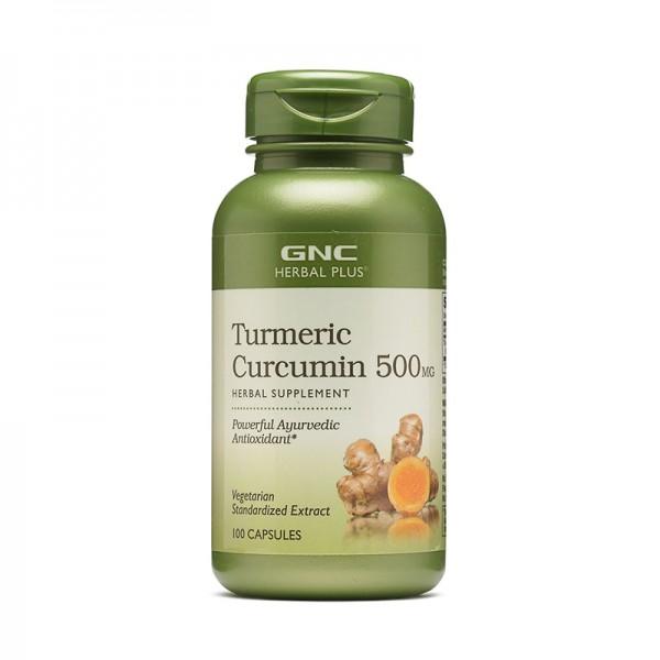 Extract standardizat de turmeric curcumin 500 mg (100 capsule), GNC Herbal Plus