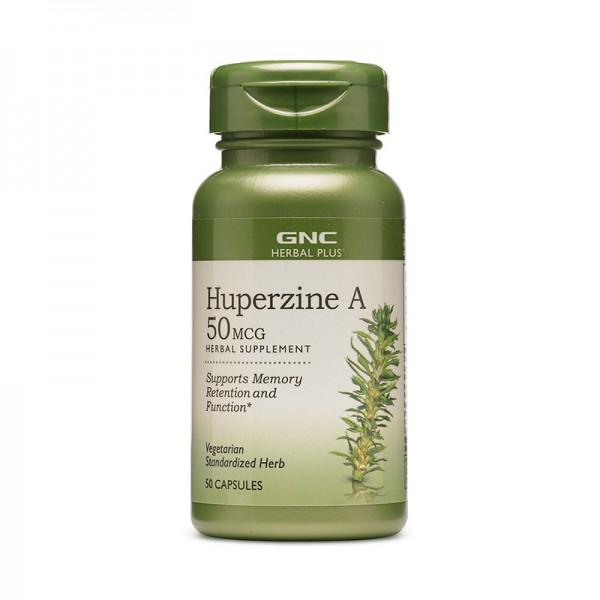 Extract standardizat de Huperzine A 50 mcg (50 capsule) GNC Herbal Plus