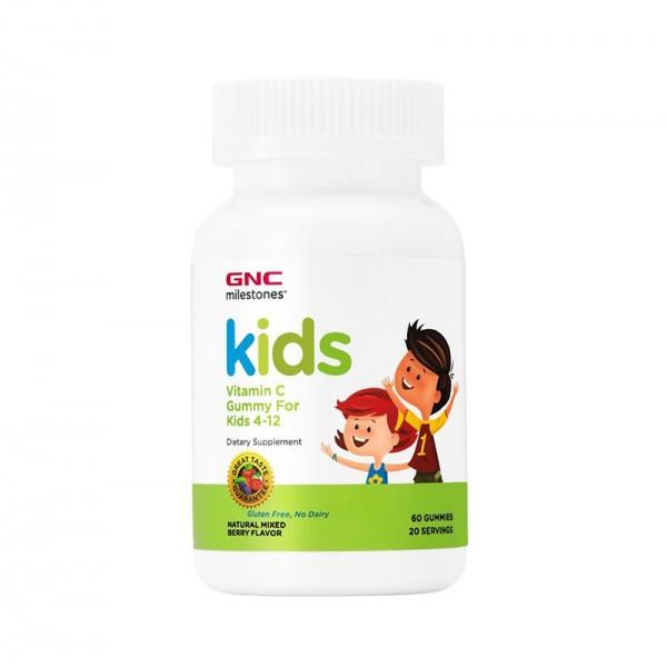 Kids Vitamina C cu aroma de fructe de padure (60 jeleuri), GNC Milestones