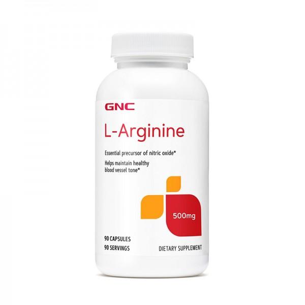 L-Arginina 500 mg (90 capsule), GNC