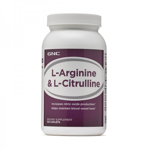 L-Arginina si L-Citrulina (120 capsule), GNC