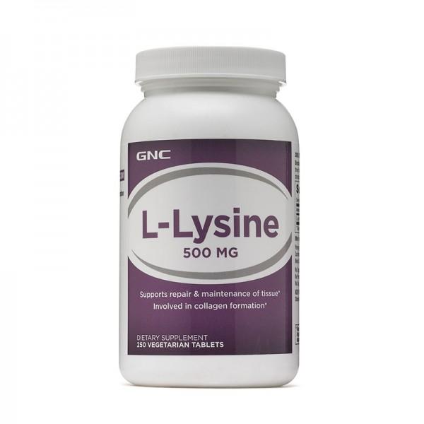 L-Lizina 500 mg (100 capsule), GNC