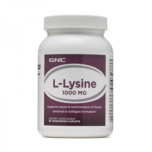 L-Lysine 1000 (90 capsule vegetale), GNC