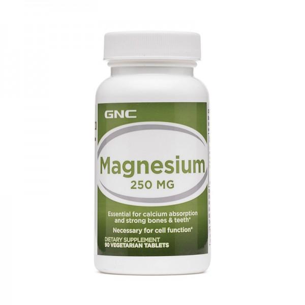 Magneziu 250 mg (90 tablete), GNC