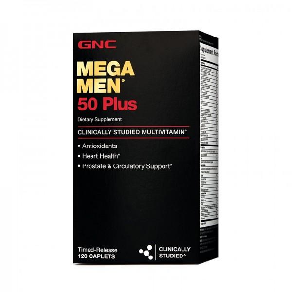 Mega Men 50 Plus Complex de multivitamine Timed released (120 capsule), GNC