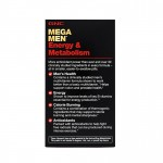 Mega Men Energy & Metabolism Complex de multivitamine pentru barbati (90 tablete), GNC