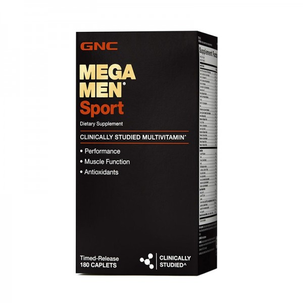Mega men sport Multivitamine si minerale (180 capsule), GNC