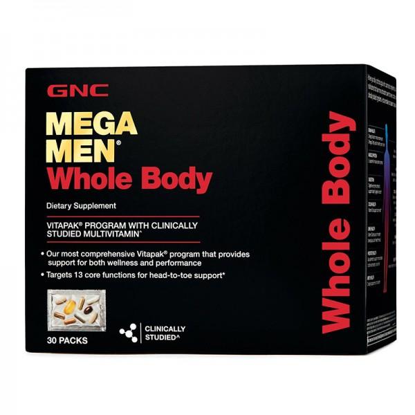 Mega Men Whole Body Vitapak - Program pentru intregul organism (30 pachetele), GNC