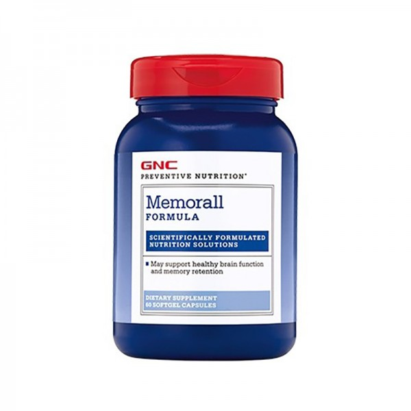 Memorall Formula pentru sustinerea memoriei (60 capsule), GNC Preventive Nutrition