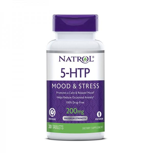 5-HTP Natrol Time Release 200 mg (30 tablete), GNC