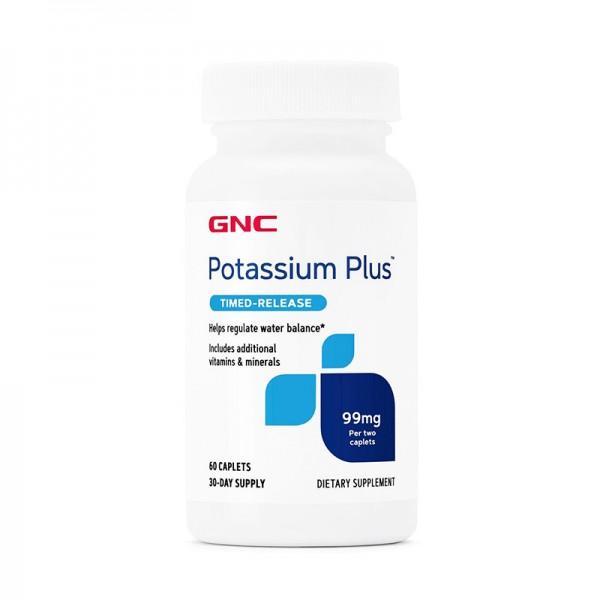 Potasiu Plus 99 mg  (60 tablete), GNC