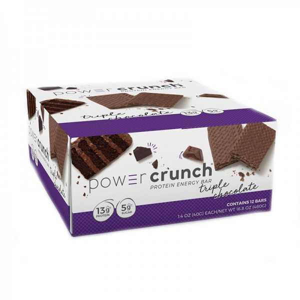 Power Crunch Napolitana proteica cu aroma de ciocolata tripla (40 grame), GNC