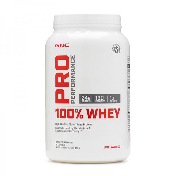 100% Whey Proteina din zer fara aroma (840 grame), GNC Pro Performance