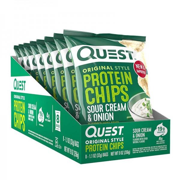 Quest Chipsuri proteice cu aroma de smantana si ceapa (32 grame), GNC