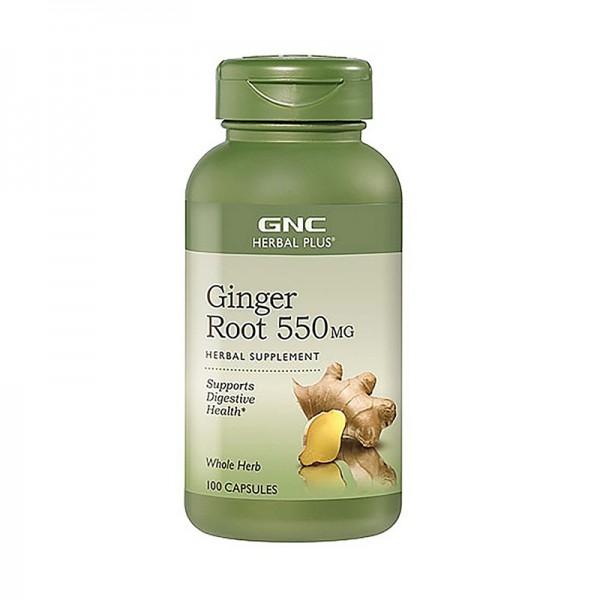Radacina de ghimbir 550 mg (100 capsule) GNC Herbal Plus