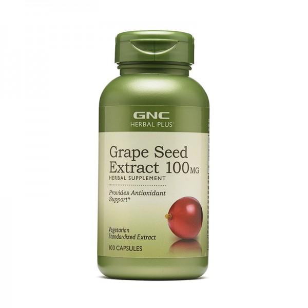 Extract standardizat din samburi de struguri 100 mg (100 capsule), GNC Herbal Plus